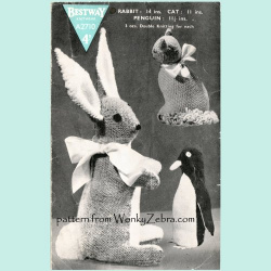 wonkyzebra_00549_a_bestway_rabbit_cat_penguin_toys