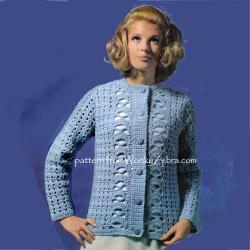 ec116af7d2 wonkyzebra_00957_a_crochet_jacket_5004. £ 2.00 WZ957 Ladies Retro 1970  Chunky Cardigan Jacket Vintage Crochet Pattern PDF 00957