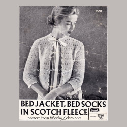 wonkyzebra_z1021_a_bedjacket_bed_socks_in_scotch_fleece_knit_crochet_trim_b560