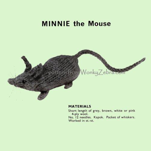 Wonkyzebra Wz541 Minnie Mouse Toy Knitting Pdf Pattern 00541