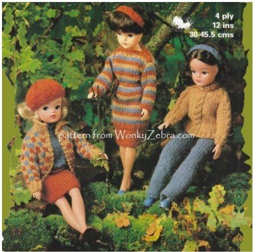 Wonkyzebra Wz599 Sindy Dolls Clothes 70s Countryside Set Vintage