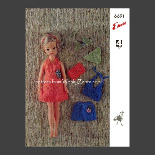 Wonkyzebra Wz738 Sindy Doll Or 12inch Teen Dolls Holiday Outfits