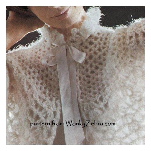 Wonkyzebra Wz953 Crochet Mohair Capelet Vintage Crochet Pattern