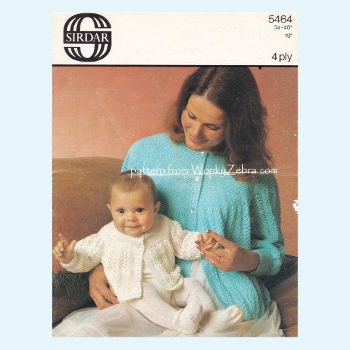2c275ad92 Vintage Knitted Pattern PDF 00962.  wonkyzebra 00962 a bed jacket and matching baby jacket 962.  wonkyzebra 00962 a bed jacket and matching baby jacket 962 ...