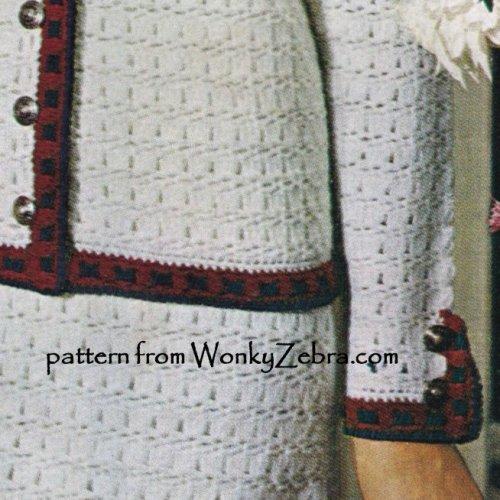 Wonkyzebra Wz988 Sixties Chanel Style Suit Crochet Suit