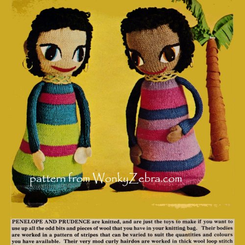 Wonkyzebra Wzt1020 Doll Knitting Knitted Dolls Pattern 13 Inch